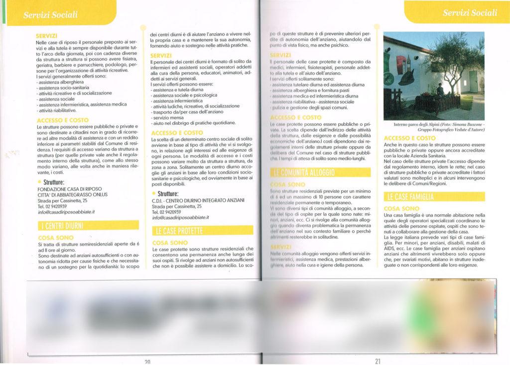 4 Pagina interna della Guida Noi Cittadini - Abbiategrasso (Interno parco degli Alpini) Foto Simona Buscone Vedute D