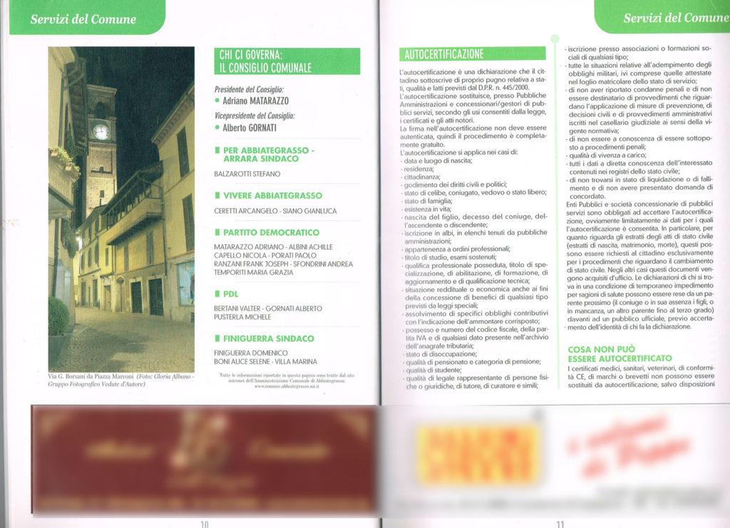 5 Pagina interna della Guida Noi Cittadini - Abbiategrasso (Via G Borsani da Piazza Marconi) Foto Vedute D