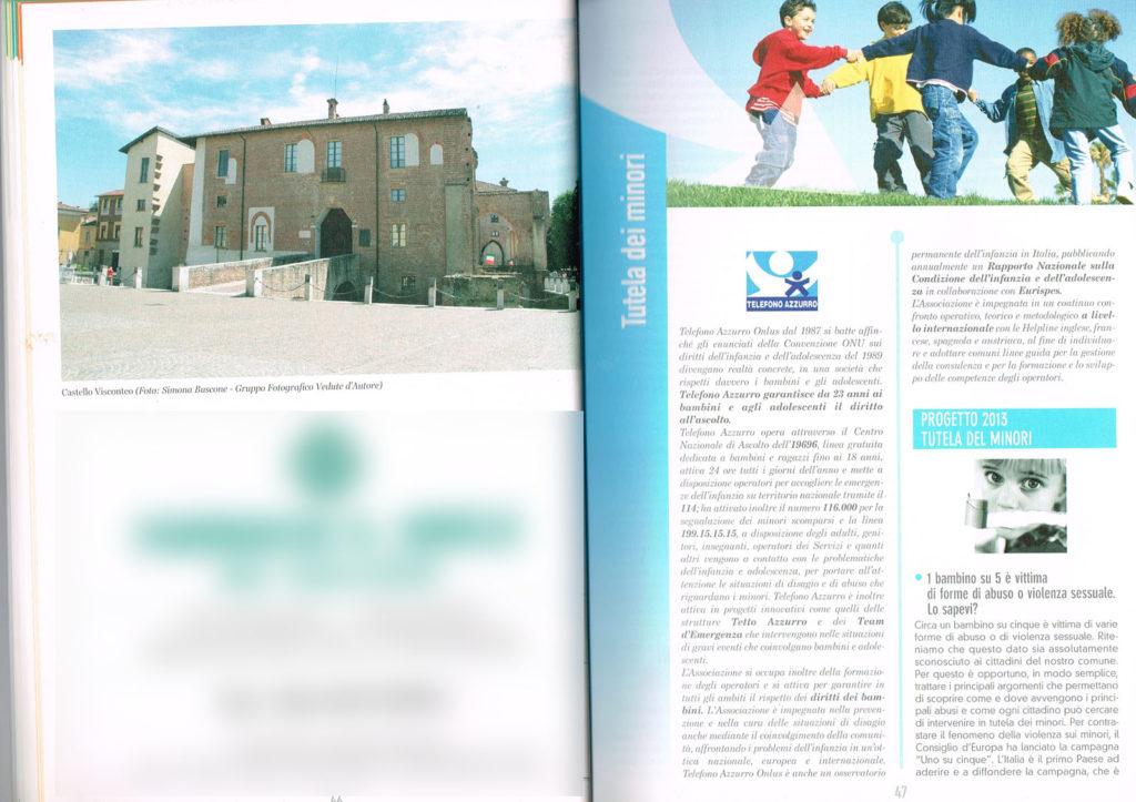 6 Pagina interna della Guida Noi Cittadini - Abbiategrasso (Castello Visconteo) Foto Simona Buscone Vedute D