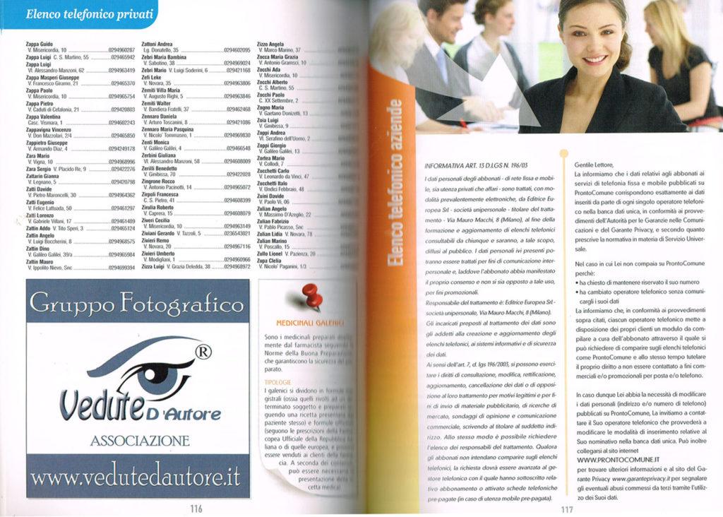 7 Pagina interna della Guida Noi Cittadini - Abbiategrasso (Pagina con il logo Vedute D